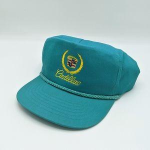 Vtg Cadillac Snap Back Rope Embroidered Hat KC